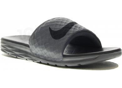 b5ee8fc932c Nike Benassi Solarsoft M homme Gris argent pas cher