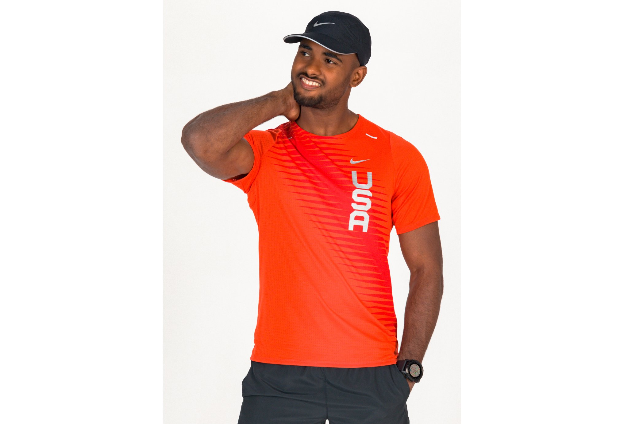 Nike Breathe Rise 365 Team USA M vêtement running homme