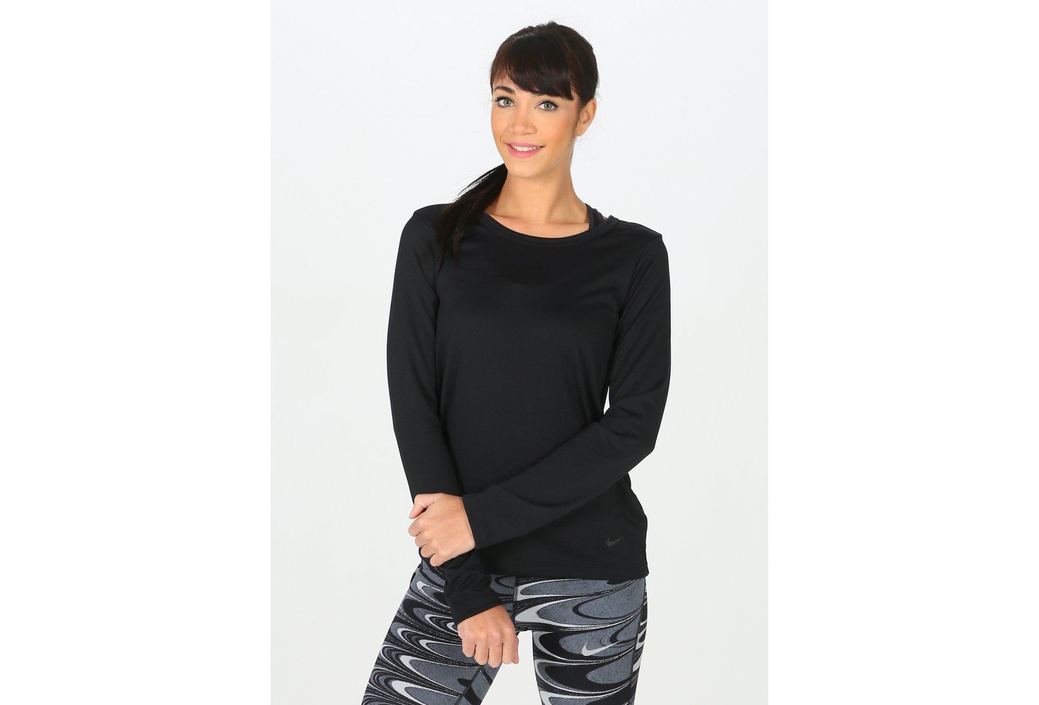 Nike Dry Top LS Elastika W vêtement running femme