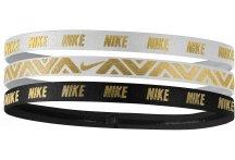 Nike Elastiques Hairband Metallic x3