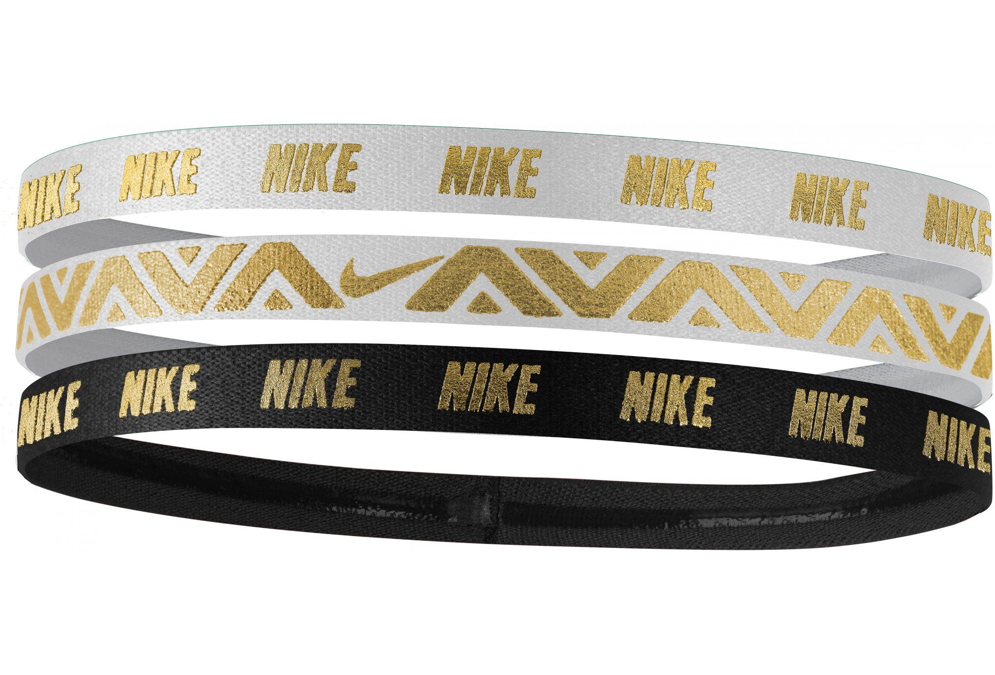 Nike Elastiques Hairband Metallic x3 Casquettes / bandeaux