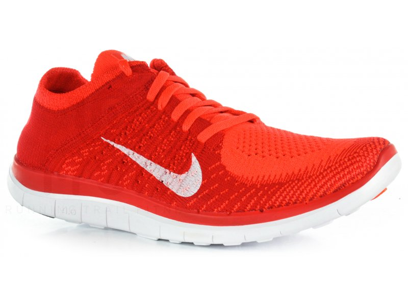 Nike Free 4.0 Flyknit M homme Rouge pas cher