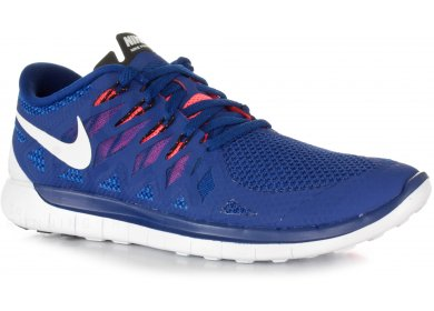 check out d686c 215e0 Nike Free 5.0 M homme Bleu pas cher
