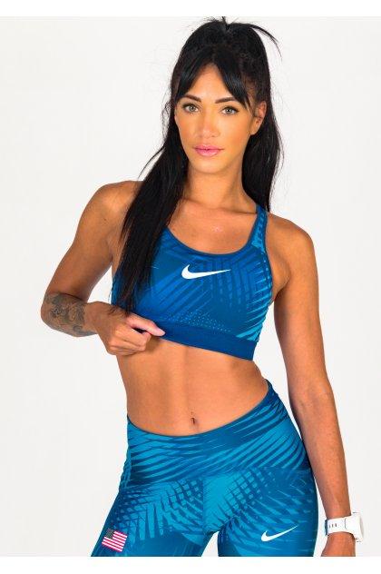 Nike sujetador deportivo Impact Strappy Team USA