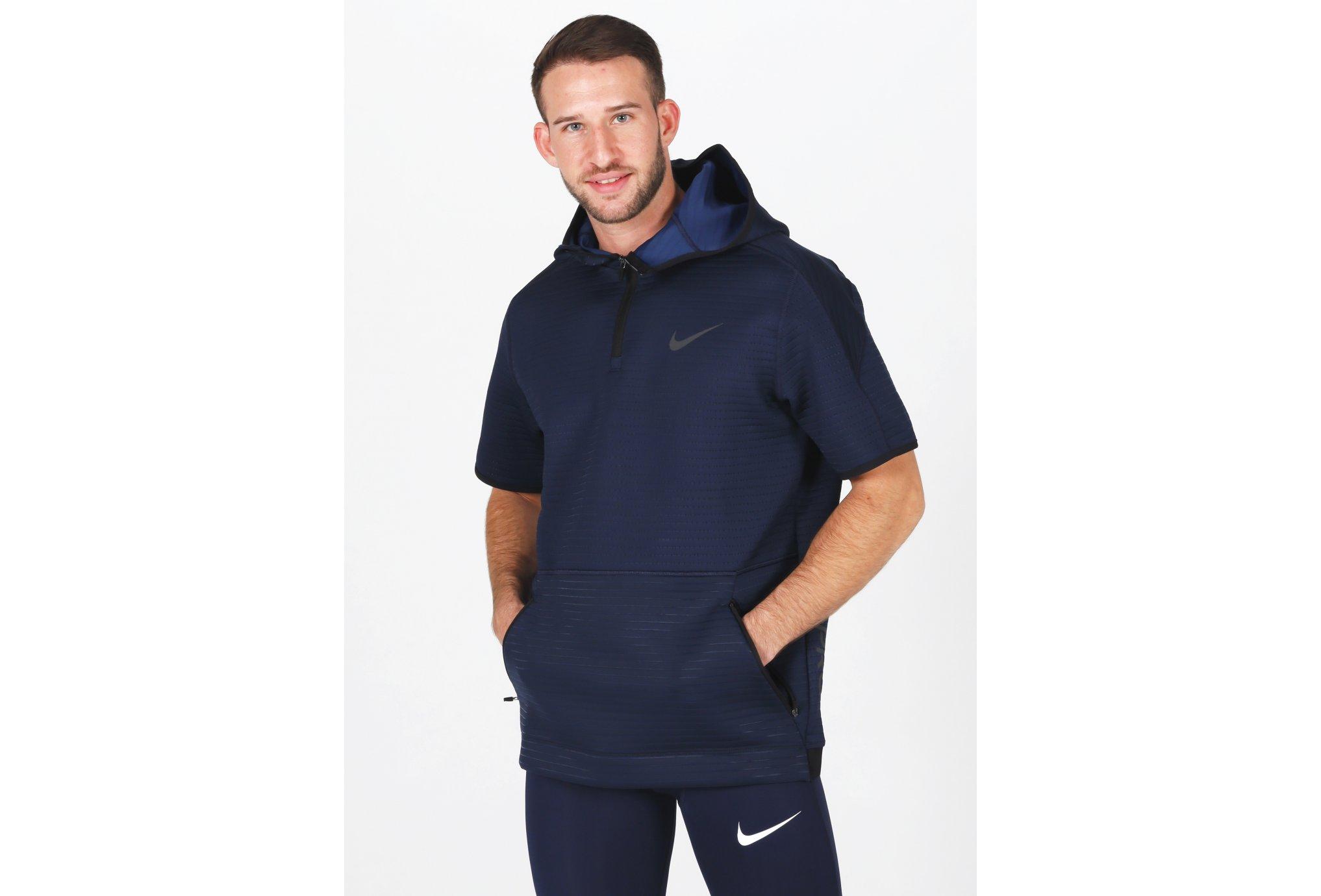 Nike Pro Hoodie 1/4 Zip M vêtement running homme