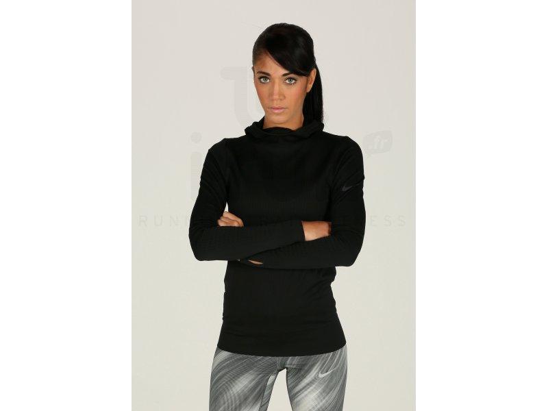 591d8eb5bd4d Nike Pro Tee-shirt Hyperwarm Limitless W femme Noir pas cher