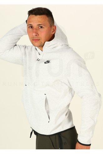 Nike Tech Fleece Hoodie M homme Blanc pas cher