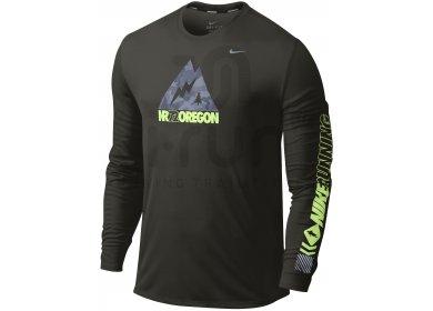 Nike Ls Vêtements Shirt Oregon Homme Running Cher Pas M Tee farqf bc3d7235622