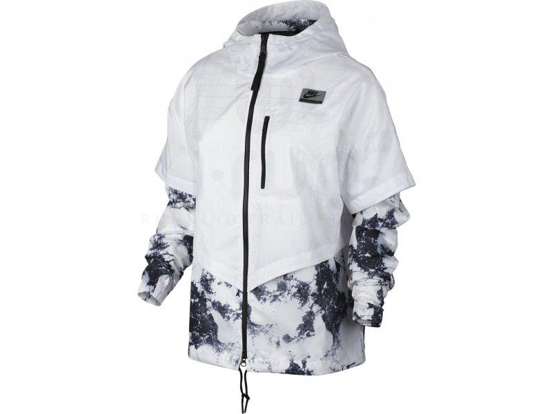 Nike Veste International Windrunner W femme Blanc pas cher