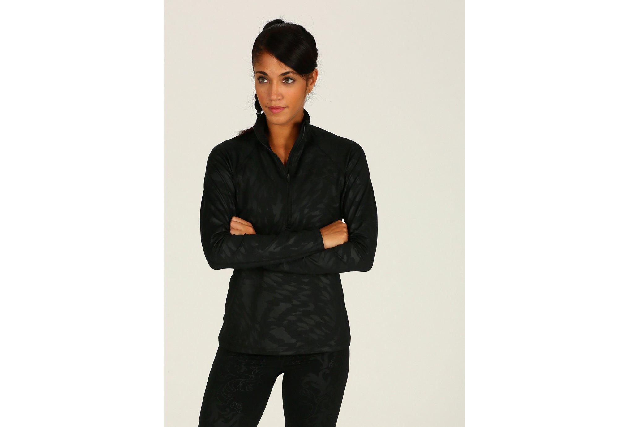 Nike Warm Top Half Zip Embossed W Diététique Vêtements femme