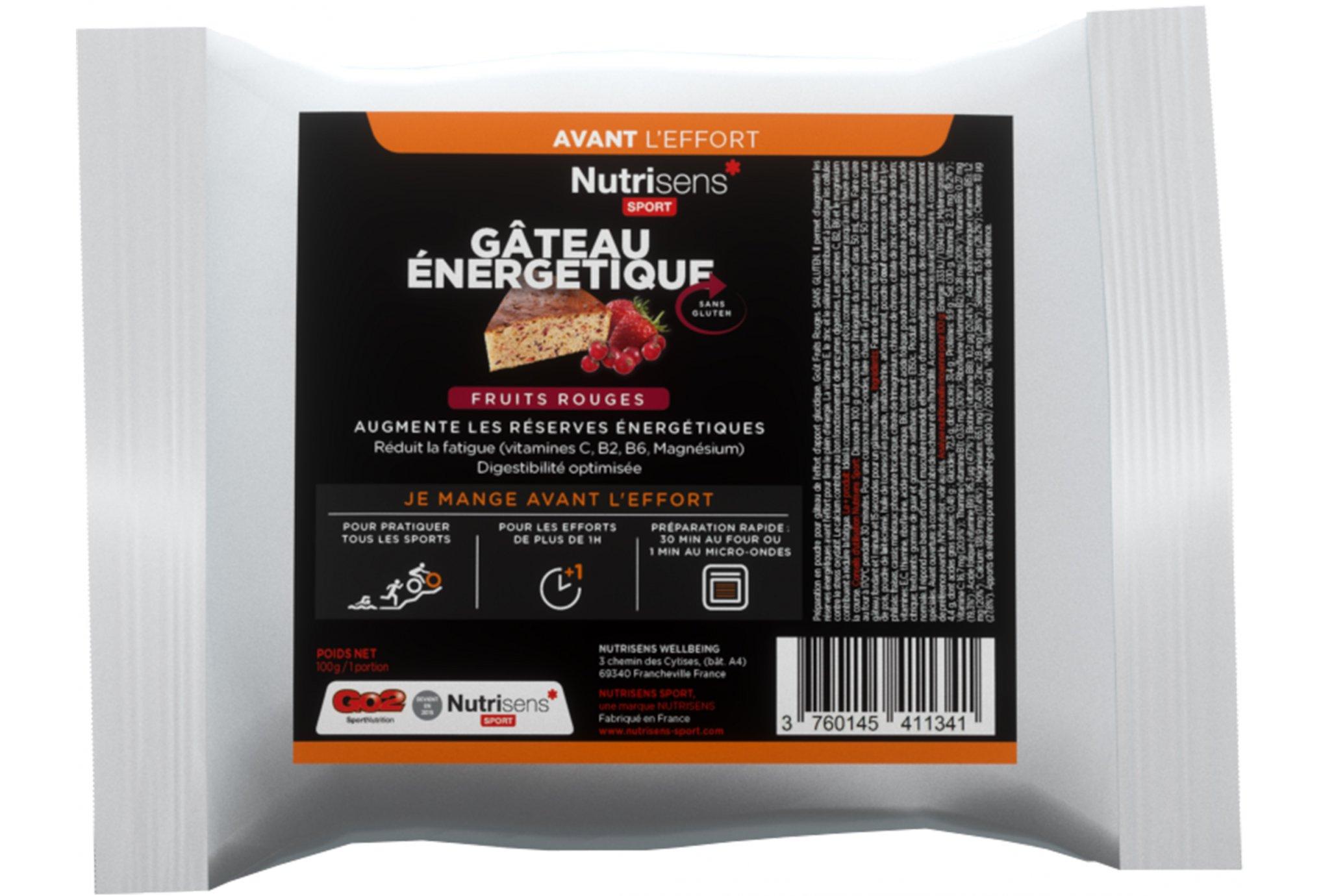 Nutrisens Sport sachet energétique - fruits rouges diététique préparation