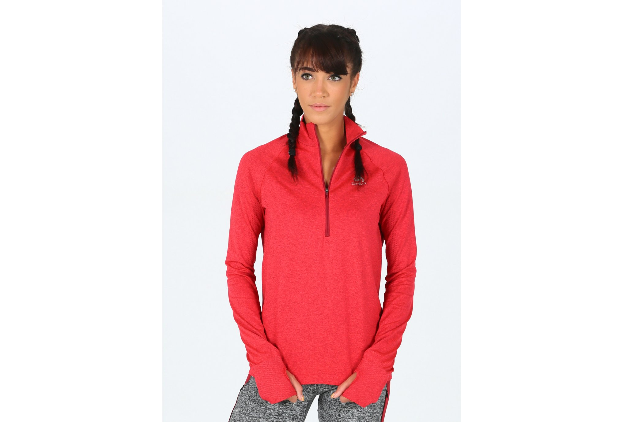 Odlo Irbis Warm 1/2 zip W vêtement running femme