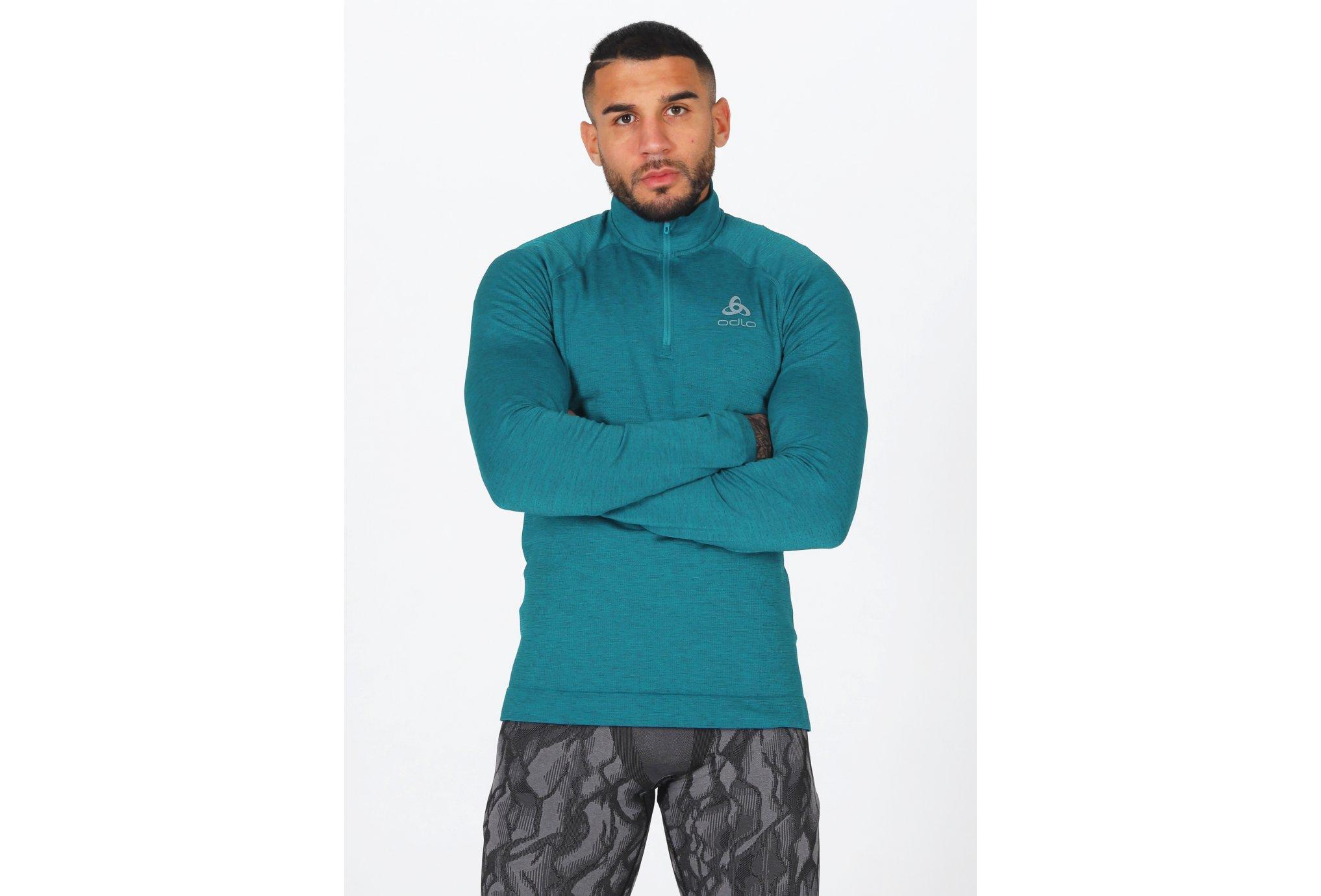 Odlo Millennium Yakwarm 1/2 zip M vêtement running homme