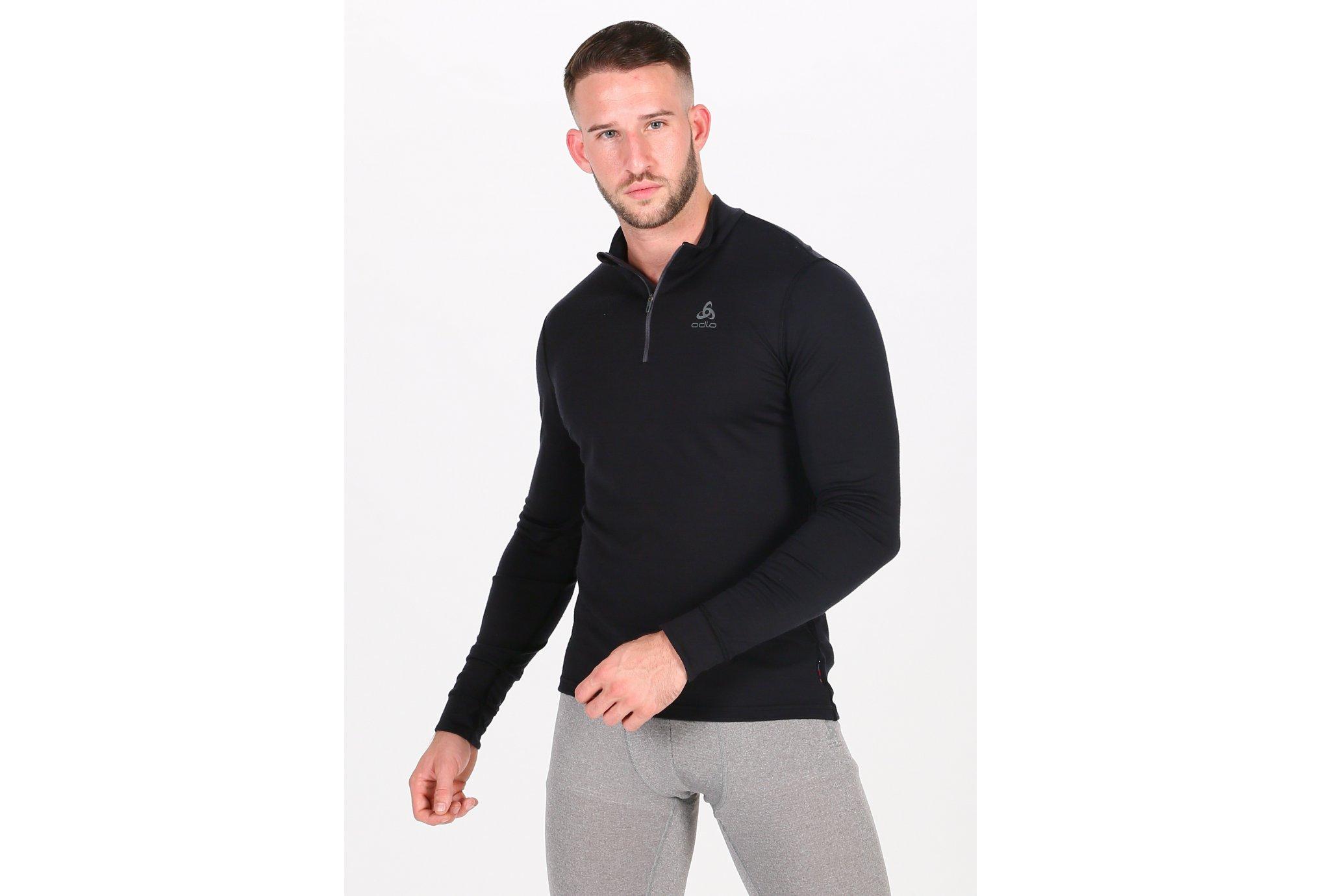 Odlo Natural 100% Merino 1/2 zip M vêtement running homme