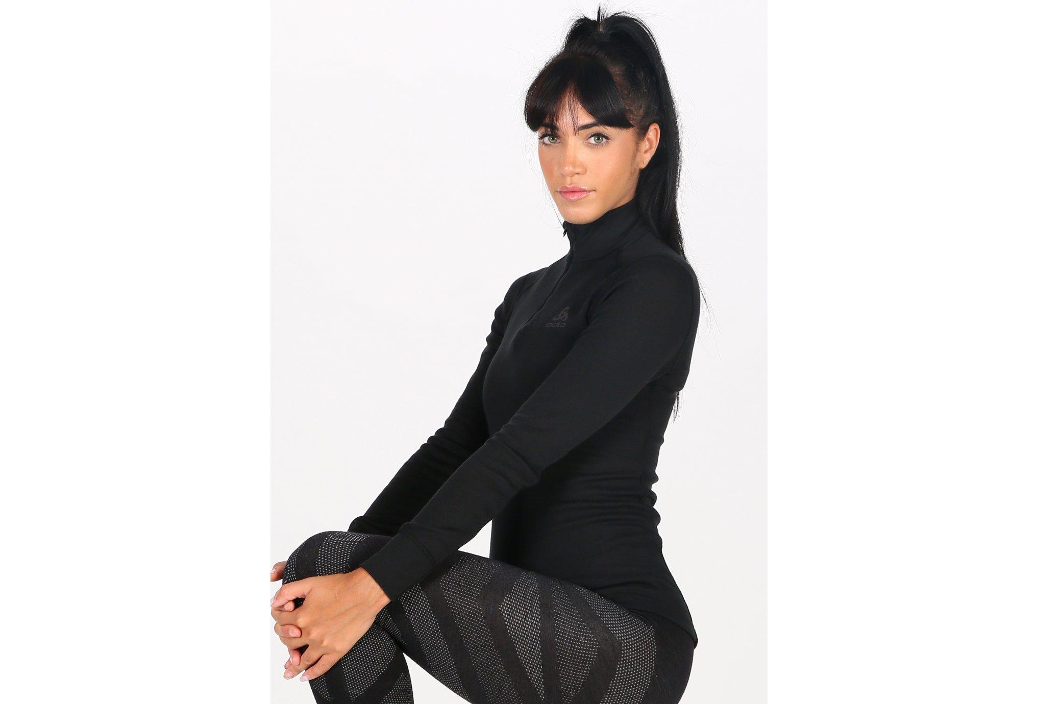 Odlo Turtle Neck 1/2 zip W vêtement running femme