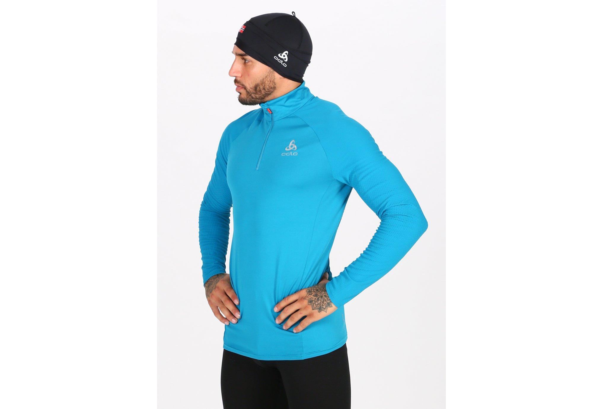 Odlo Zeroweight Ceramiwarm 1/2 zip M Diététique Vêtements homme