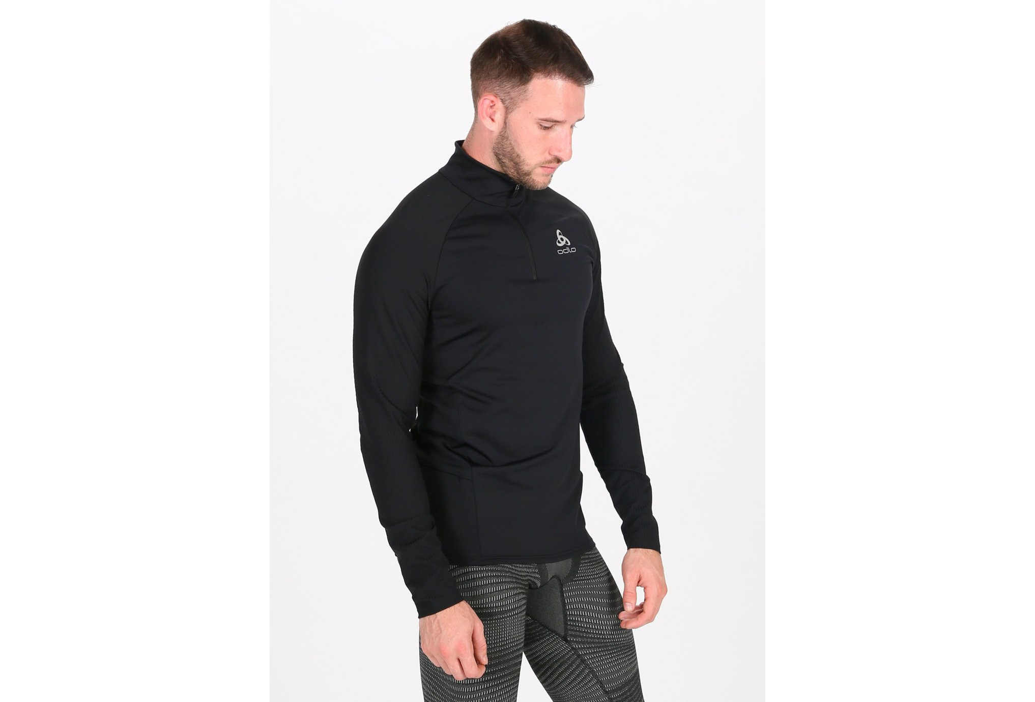Odlo Zeroweight Ceramiwarm 1/2 zip M vêtement running homme