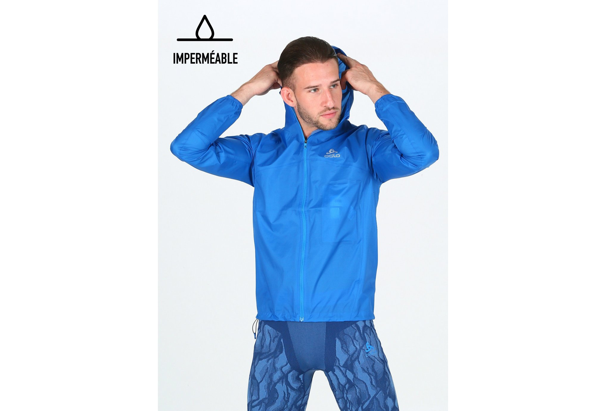 Odlo Zeroweight Rain Warm M vêtement running homme