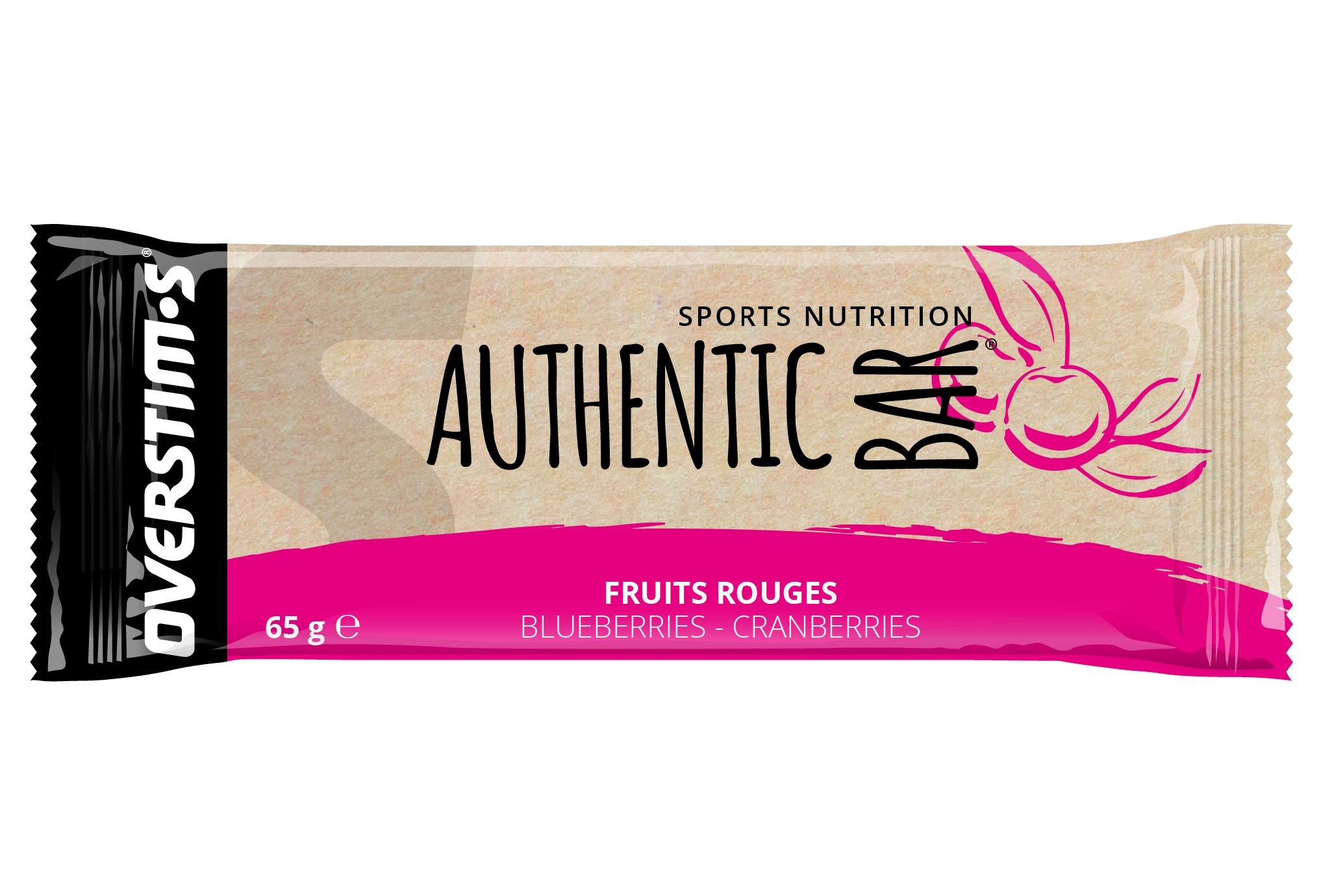 OVERSTIMS Authentic Bar - Fruits Rouges Diététique Barres