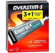 OVERSTIMS Étui Gels Endurance Energix Liquide 3+1 - citron
