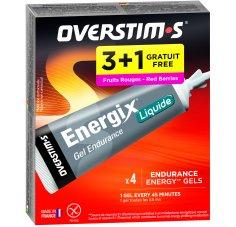 OVERSTIMS Étui Gels Endurance Energix Liquide 3+1 - Fruits rouges