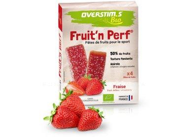 OVERSTIMS Étuis 4 barres Fruit'n Perf Bio - Fraise