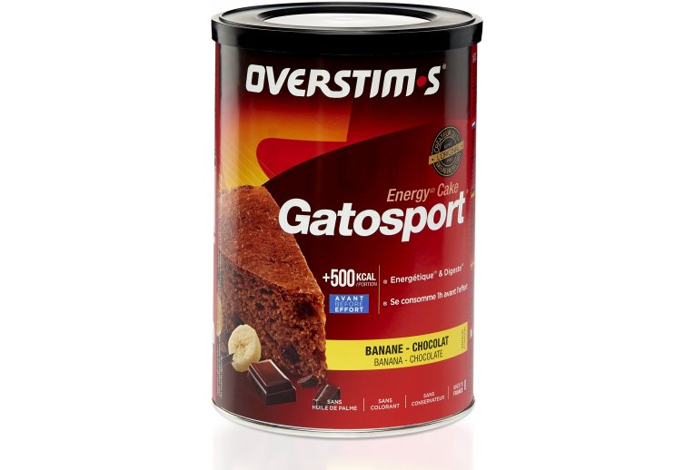 OVERSTIMS Gatosport 400 g - Banane/chocolat
