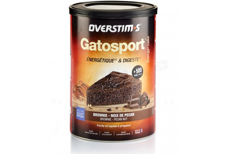 OVERSTIMS Gatosport 400 g - Brownie/noix de pécan