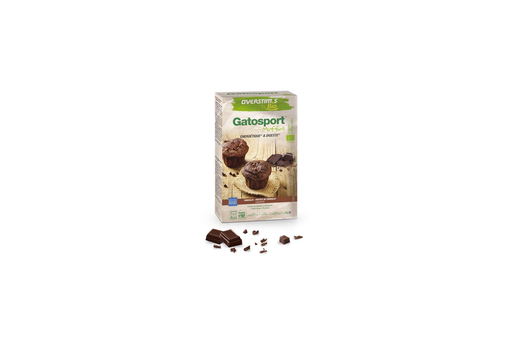 OVERSTIMS Gatosport Muffins Bio 400 g - Chocolat et pépites de chocolat Diététique Préparation