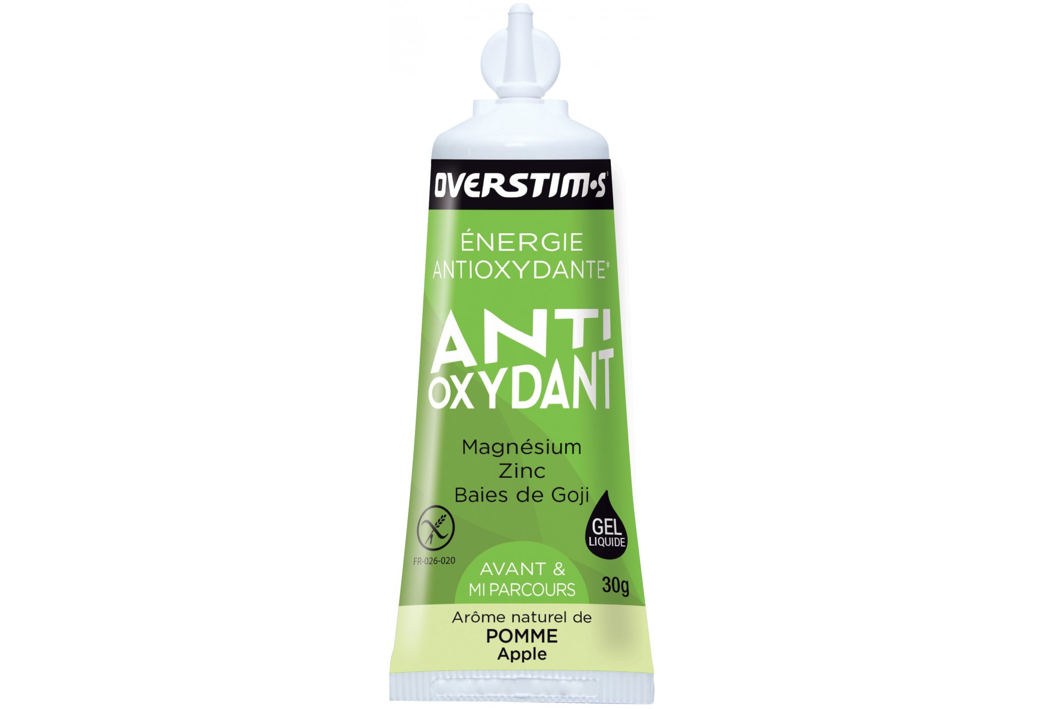 OVERSTIMS Gel Antioxydant 3 - Manzana verde Diététique Gels