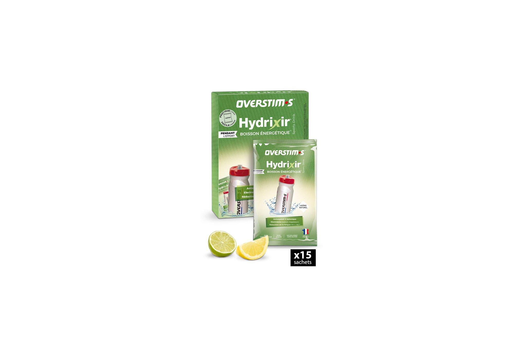 OVERSTIMS Hydrixir 15 sachets - Citron/citron vert Diététique Boissons
