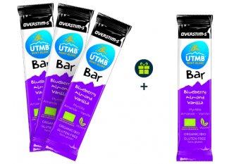 OVERSTIMS Pack de 3 UTMB Bar Bio + 1 offerte - Myrtille/Amande/Vanille