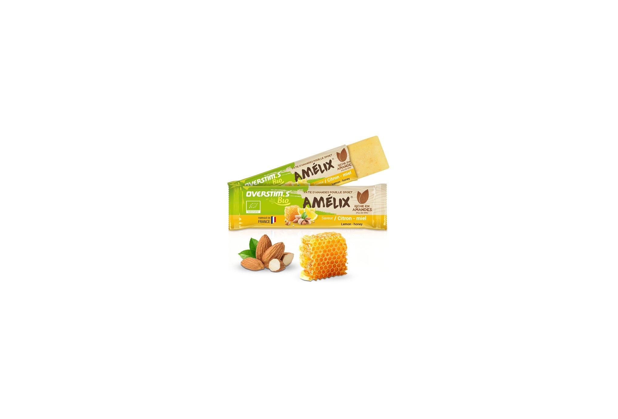OVERSTIMS Pâtes d'amandes Amélix Bio - Citron miel Diététique Barres