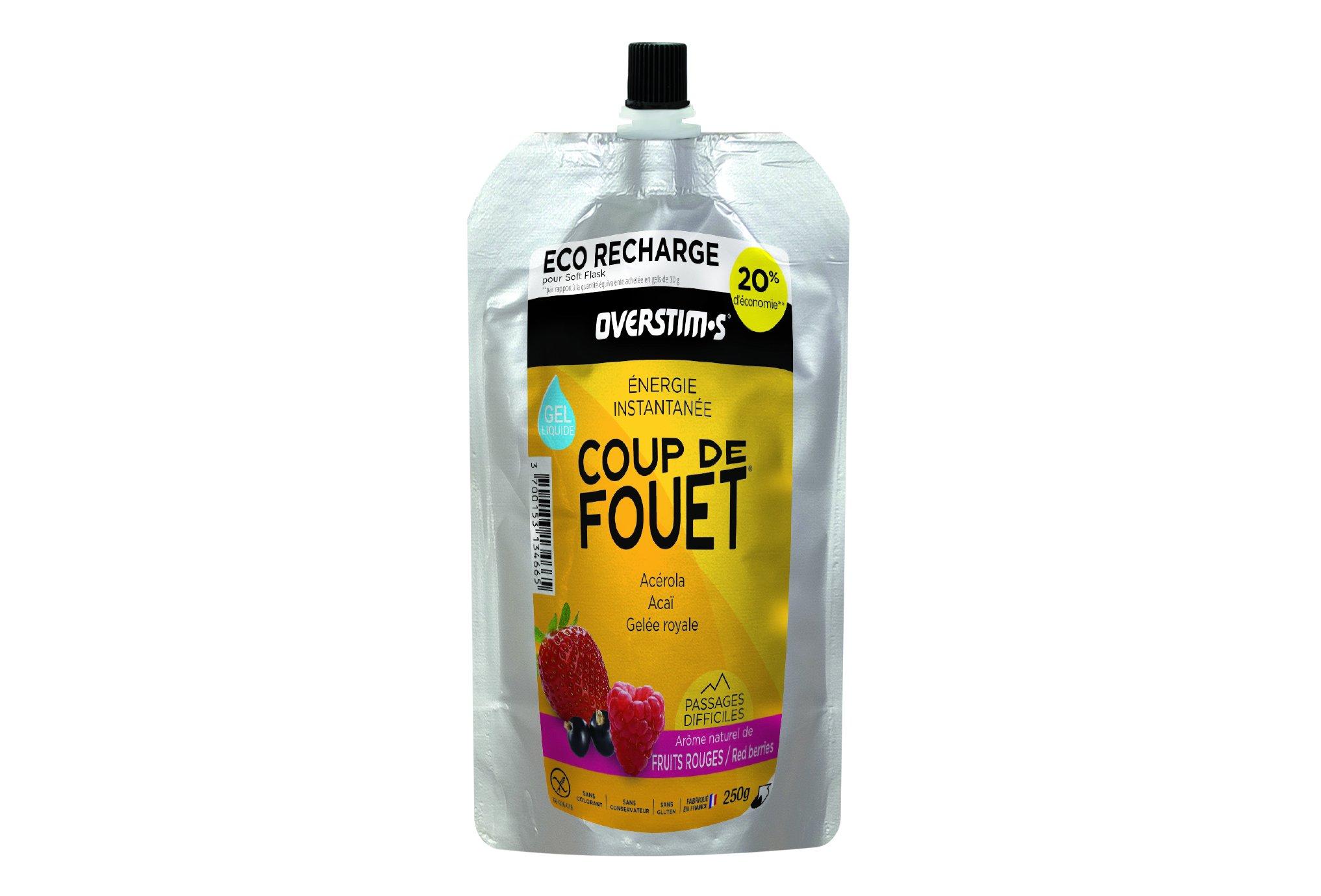OVERSTIMS Recharge Éco Gel Énergie instantanée Coup de fouet 250 g - Fruits rouges Diététique Gels