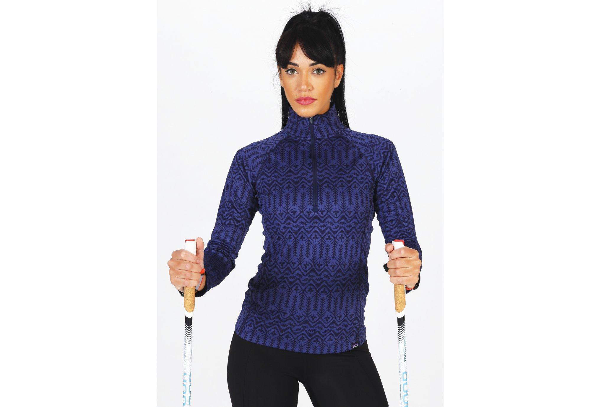 Patagonia Capilene Midweight Zip-Neck W vêtement running femme