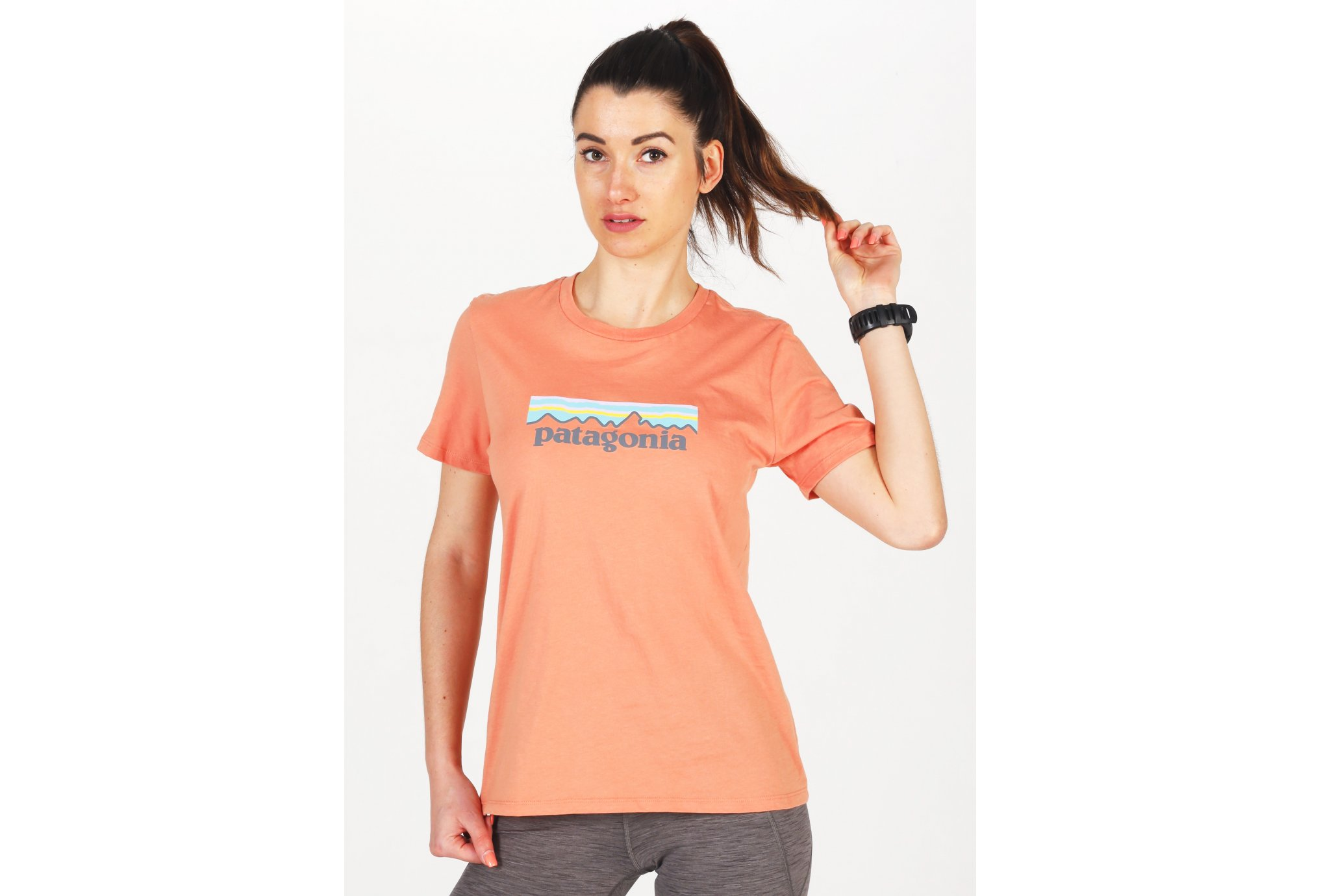 Patagonia Pastel P-6 Logo Organic Cotton Crew W vêtement running femme