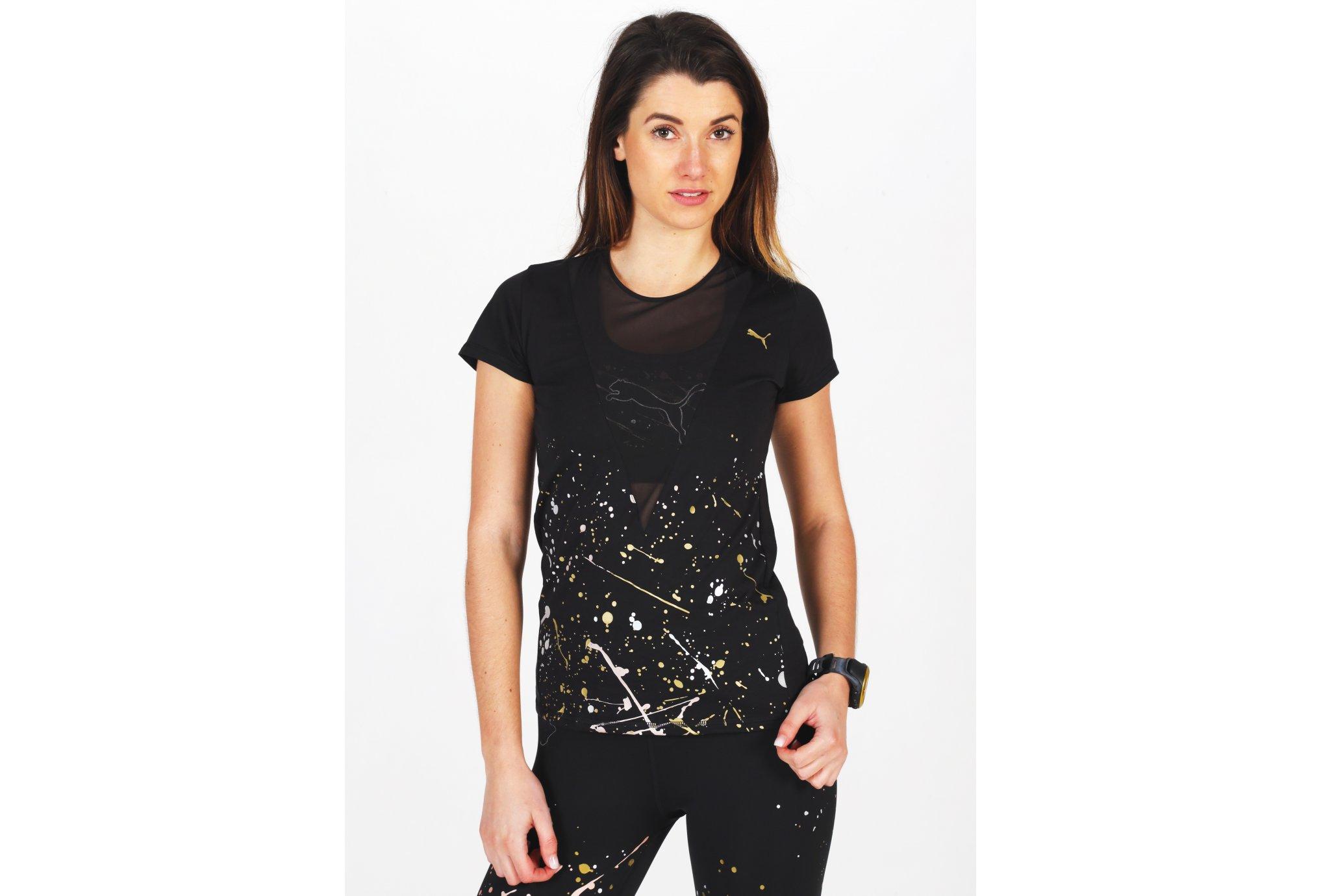 Puma Metal Splash Deep V W vêtement running femme