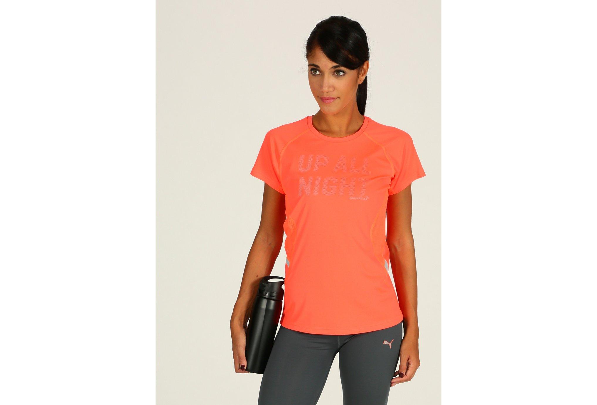 Puma Tee-shirt Night Cat Logo W Diététique Vêtements femme