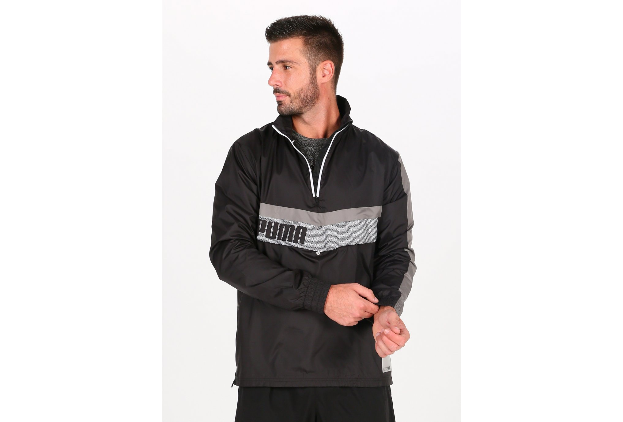 Puma Train Woven 1/2 Zip M vêtement running homme