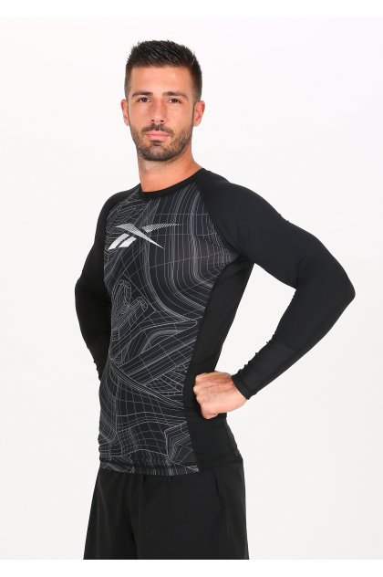 Reebok camiseta manga larga AOP Compression