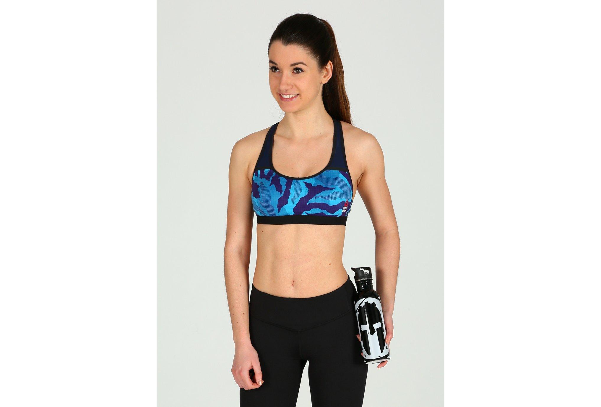 Reebok Brassière CrossFit Racer AOP Diététique Vêtements femme