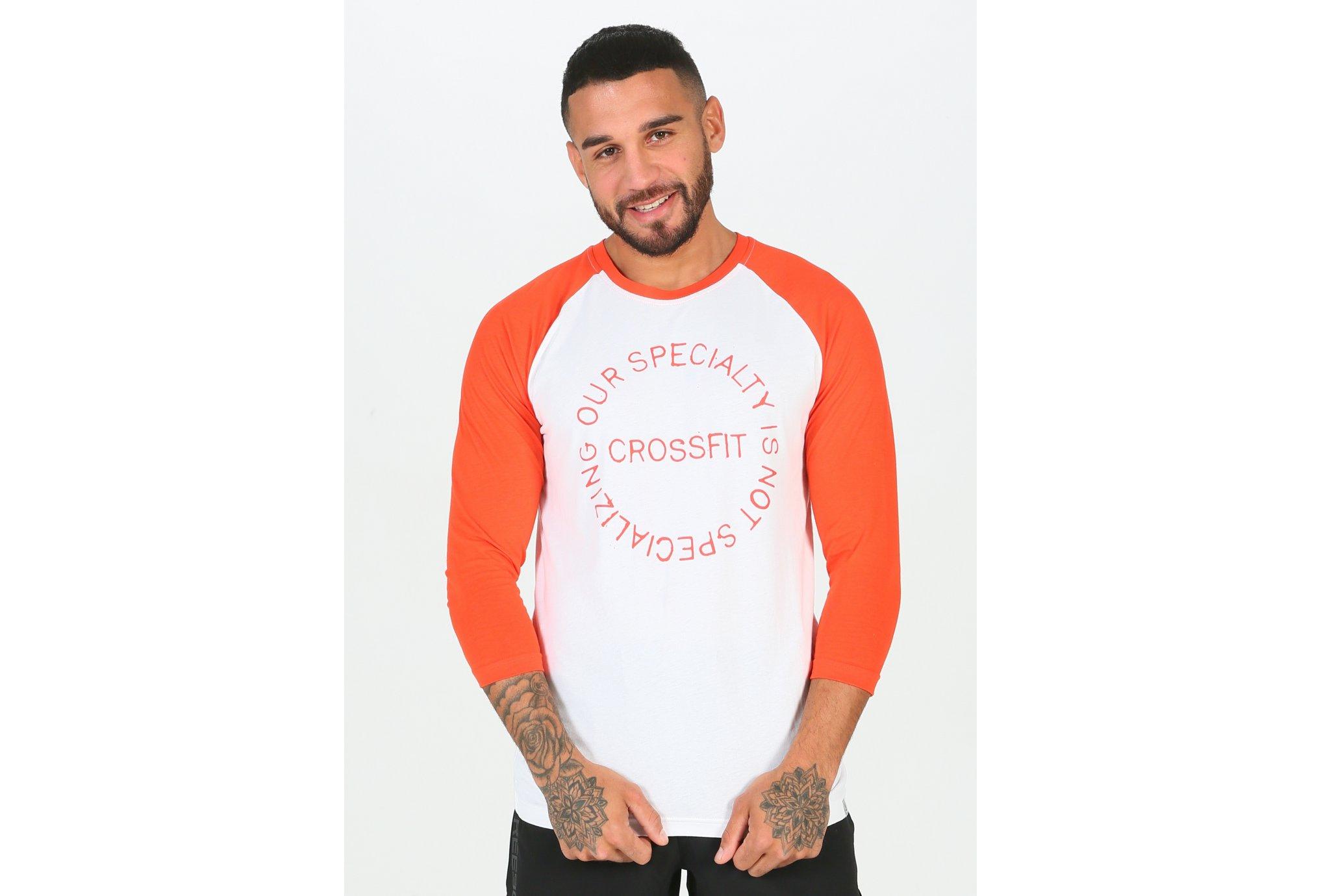 Reebok CrossFit Raglan M Diététique Vêtements homme