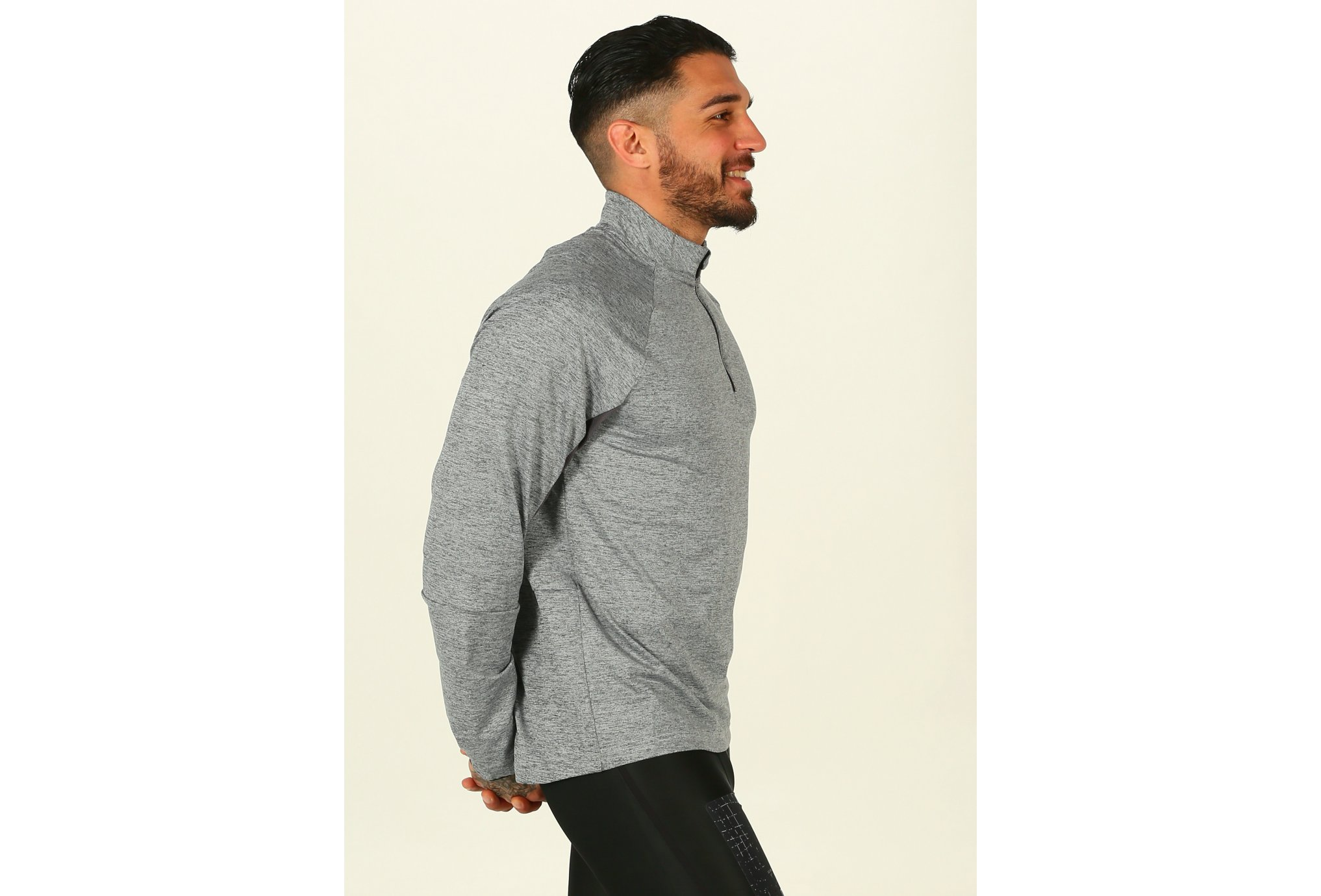 Reebok Long Sleeve 1/4 zip M vêtement running homme