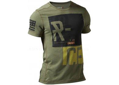 582b23a0247 Reebok Tee-shirt CrossFit Blend M homme Kaki pas cher