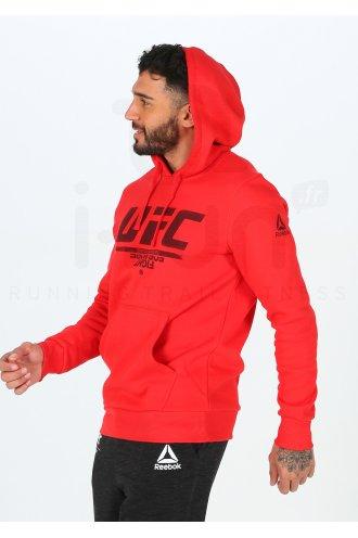 Reebok UFC Fangear Pullover Hommes Sweat /à Capuche Rouge