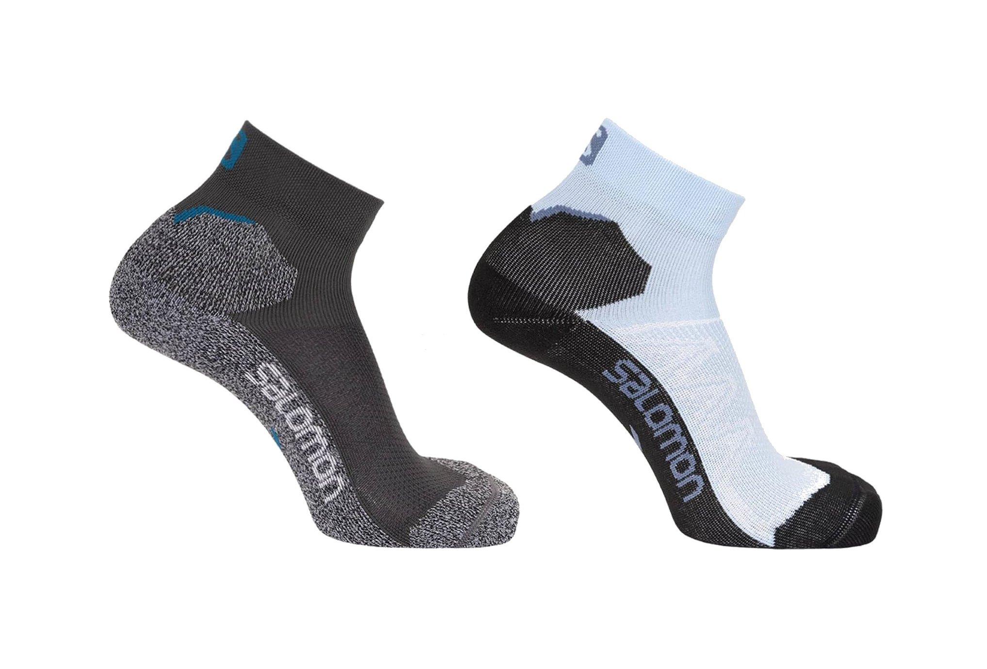 Salomon 2 paires Speedcross Ankle Chaussettes