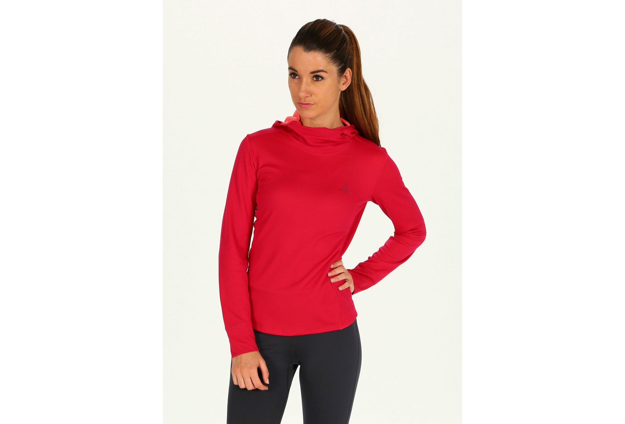 Salomon Agile ls hoodie w vêtement running femme