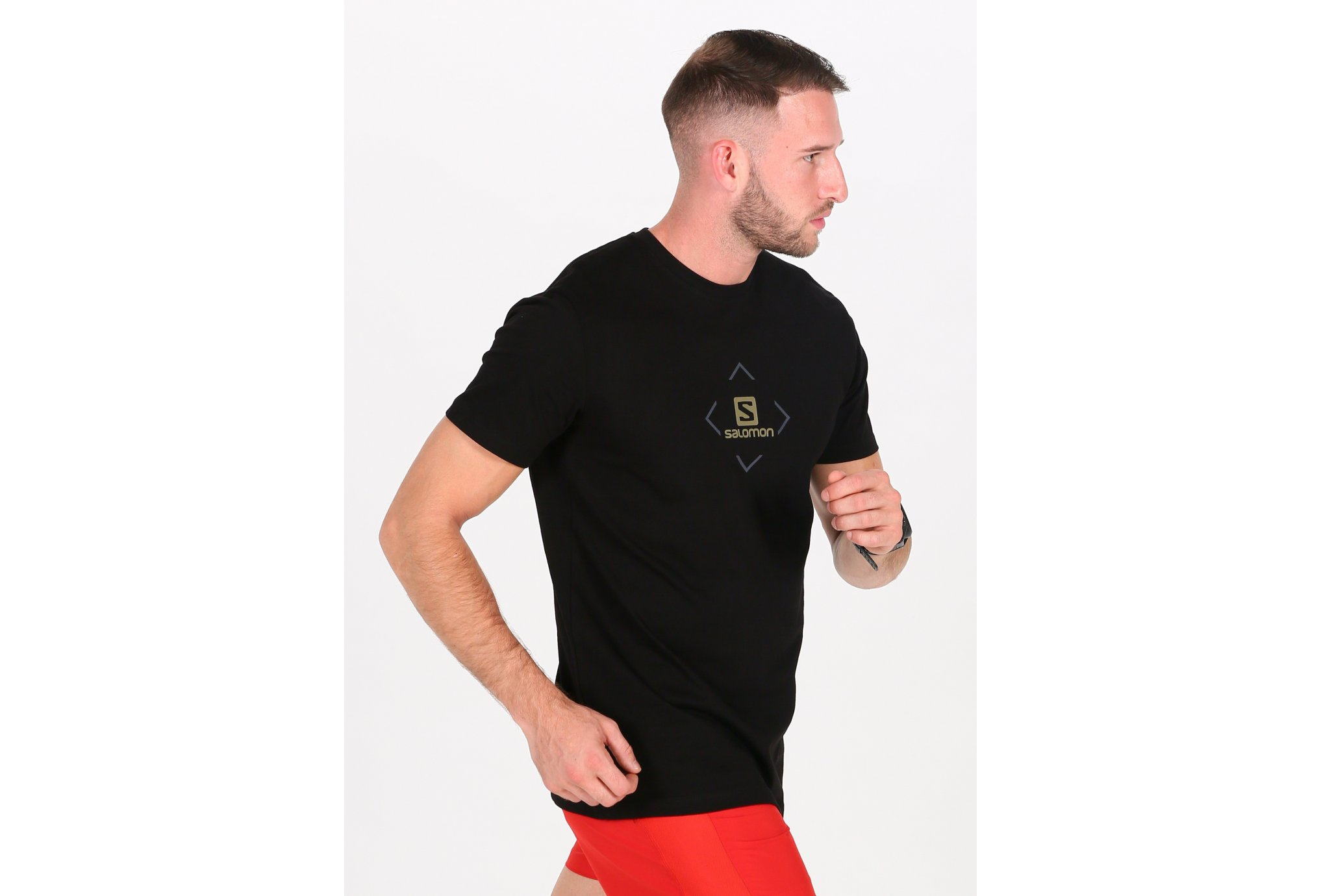 Salomon Coton Logo M Diététique Vêtements homme