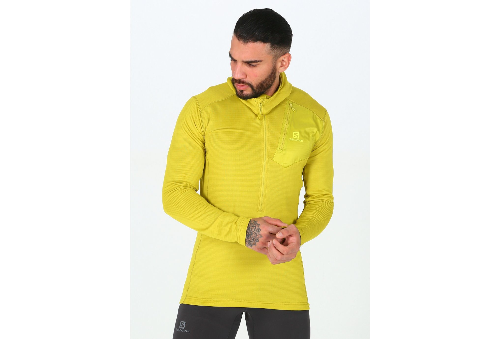 Salomon Grid HZ Mid Hoodie M vêtement running homme