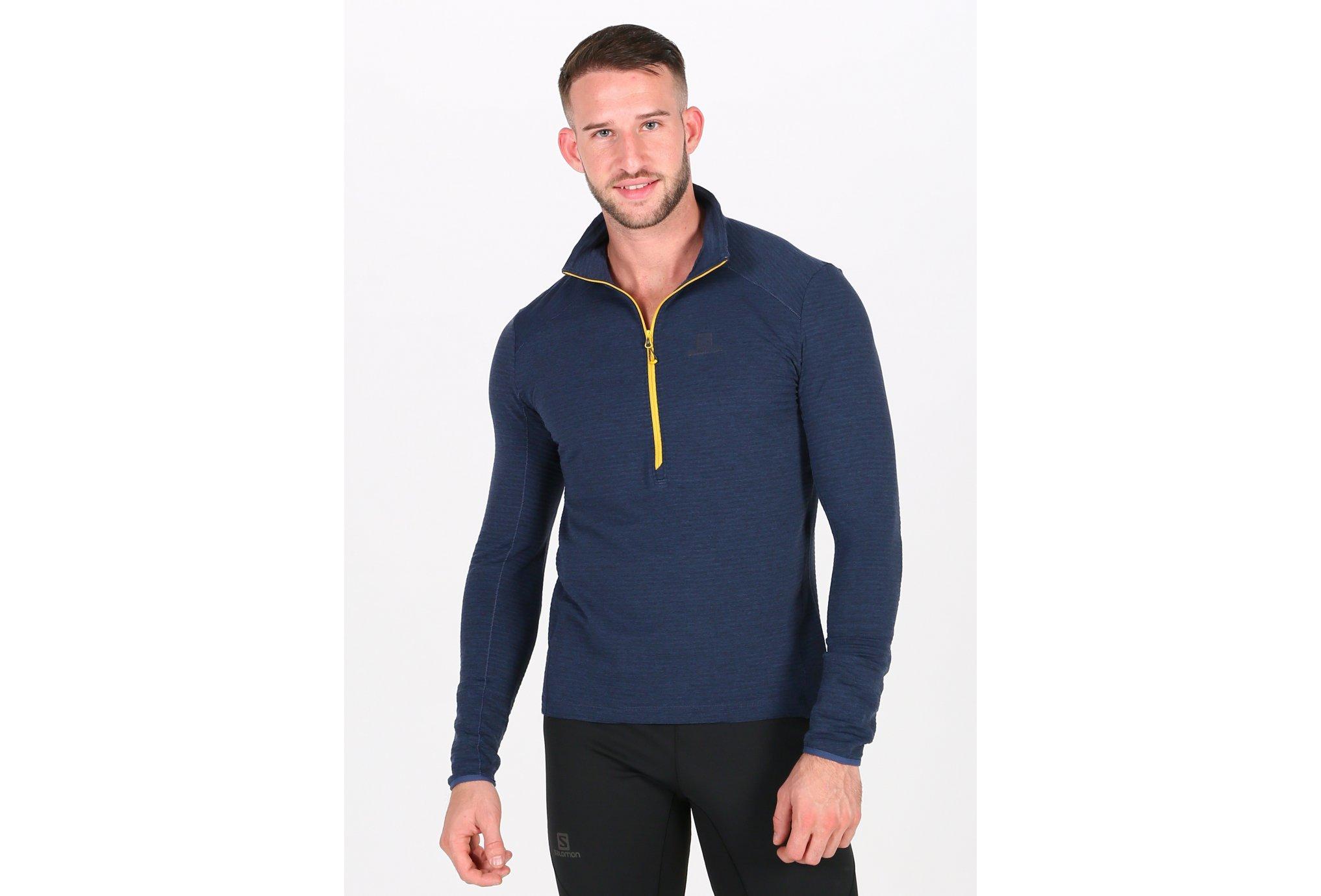 Salomon Outline Mid Half Zip M vêtement running homme